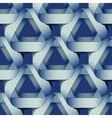 Seamless geometric pattern with blue ribbons vector image