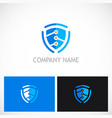 shield guard technology logo vector image