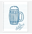 sketch of a beer vector image