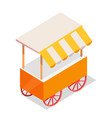 street cart store on wheels isometric icon vector image