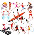 Sport Isometric Sportsmen Set Olympic AurielAki vector image