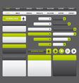 Website buttons template green and grey vector image vector image