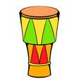 atabaque musical instrument icon cartoon vector image