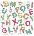 english alphabet as seamless background vector image vector image