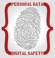 Personal data safety issues vector