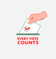 Every vote counts vector