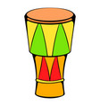 atabaque musical instrument icon cartoon vector image