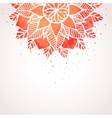 Background with watercolor red lace pattern vector image