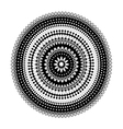 Circular lace pattern black and white vector image