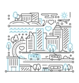 City Life - line design composition vector image