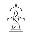 electrical power station icon outline style vector image
