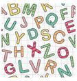 english alphabet as seamless background vector image