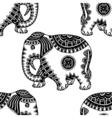 Hand Drawn Ethnic Elephant vector image