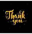 Thank You Gold Lettering over Black vector image