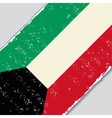 Kuwait grunge flag vector image