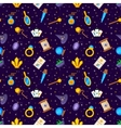 Magic decorative icons seamless pattern vector image