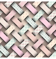 Patchwork in style Shabby chic vector image