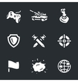Icons Set of Tank Video Games vector image