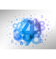 abstract numbers blue vector image vector image