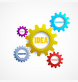colorful gears with the words creativity innovati vector image