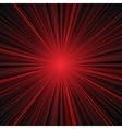 Abstract red and black stripes burst background vector image