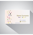 Calling card of news editor vector image vector image