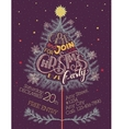 Christmas eve party hand-lettering vector image vector image
