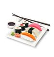 Sushi Realistic Set vector image