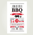 Barbecue party invitation Bbq brochure menu design vector image