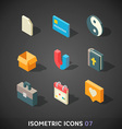 Flat Isometric Icons Set 7 vector image vector image