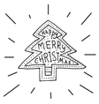 hand drawn chritmas tree vector image vector image