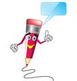 pencil cartoon vector image