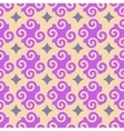 Spiral and star seamless pattern vector image