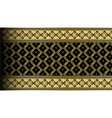 Abstract gold exotic thai seamless pattern border vector image