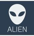 alien on blue background vector image