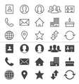 Contact thin icons vector image