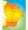 French Guiana vector image