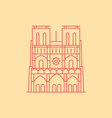 Notre Dame vector image