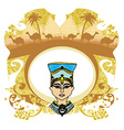 Vintage frame with Egyptian queen vector image