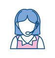 woman call center vector image