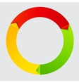 Concept of colorful Time Wheel vector image