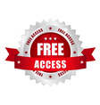Free access button vector image vector image