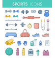 sports equipment collection vector image