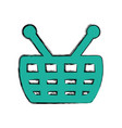 shopping basket isolated vector image