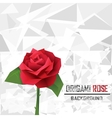 origami rose vector image vector image