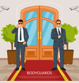 bodyguard at doors vector image