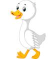 Duck cartoon vector image