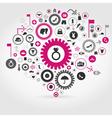 Clothes a gear wheel vector image vector image