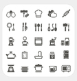 Kitchen and cooking icons set vector image