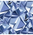 Crystal Seamless 3D Geometric background vector image vector image
